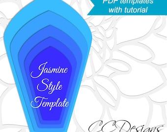 free paper flower templates pdf