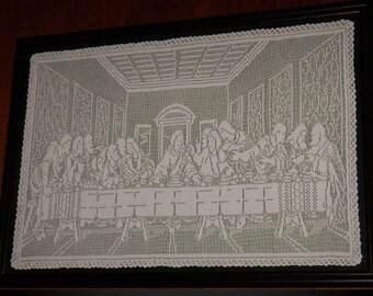 The Last Supper Filet Crochet Pattern Instant Download
