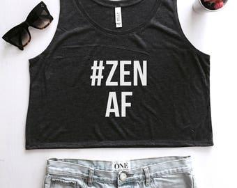 Zen AF cropped tank top