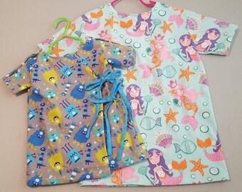 Custom made kids hospital gowns