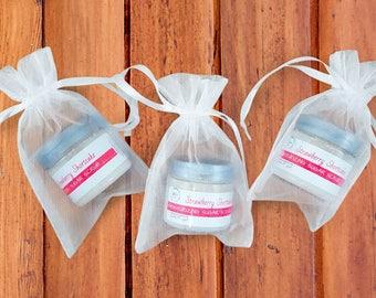 Sugar Scrub Wedding Shower Favors - Bridal Shower Favors - Bridal Shower Gifts - Whipped Sugar Scrub Strawberry Shortcake