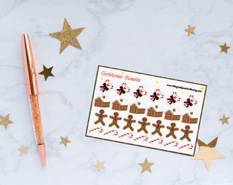 Christmas Sweets Planner Stickers, Gingerbread Stickers, Candy Cane Stickers, Vinyl Stickers