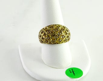 Gilt Sterling Filigree Ring Size 10