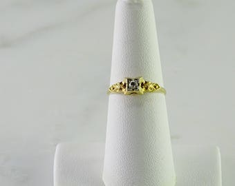 14K Stackable Diamond Ring Size 7
