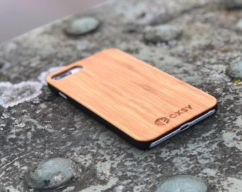 OXSY Bamboo iPhone 8+ Wood Case   iPhone 8 Plus Wood Case   Real Wood   Solid Wood iPhone 8+ cover   Gift Idea   iPhone 8 Plus Cover