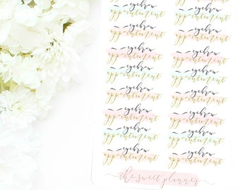 EYEBROW APPOINTMENT | Deco Sticker Sheet