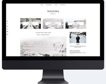 Isadora | Responsive Blogger Template + Free Installation