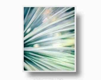Tropical leaf print, Minimalist leaf print, Green leaves print, Botanical print, Palm leaf print, Instant download minimalist leaf,