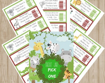 jungle Treat Jar Instant Printable