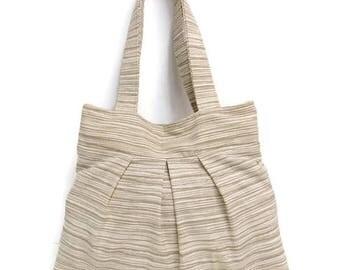 Shoulder Bag, Pleated Gray Shoulder Bag - Ready to Ship Bag - Gray Handbag -
