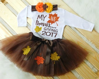 Baby Girl First Thanksgiving Outfit, Baby Girl Outfit, Girls Thanksgiving Outfit, Thanksgiving Shirt, Girls Thanksgiving Opt Set, Bodysuit