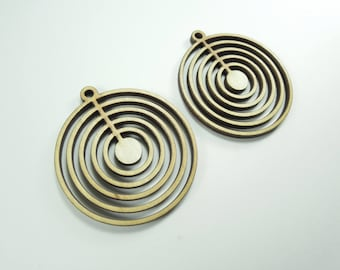 """Supplies for wooden earrings. Modern african circle - Laser cut - 1.97x1.97"""" - Directly from manufacturer - Available for larger quantities"""