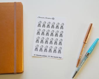 birthday and celebrations || polly character stickers || planner notebook bullet journal