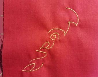 Disney Moana Embrodery signature