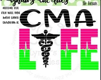 CMA Life SVG/eps/DXF file