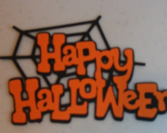 Happy Halloween, cut outs, cards, scrapbooking, decoration, cardstock, spider web