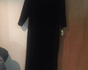 Dark purple velvet plus size goth maxi dress