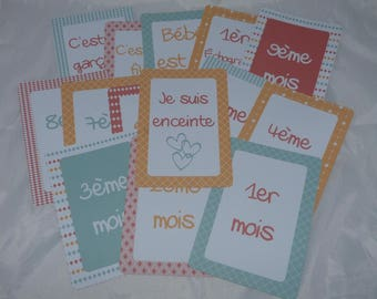 Memories kit photo step months pregnant woman pregnancy cards
