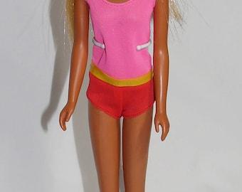 Vintage Barbie TNT Sun Set Malibu Francie Doll Blonde w/ Swimsuit, Sunglasses