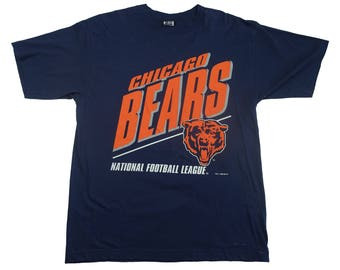 Vintage 1990s Chicago Bears Vintage Tee 1994 NFL Chicago Bears Walter Payton Tshirt - L