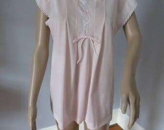 romantic vintage Lorraine pink babydoll pjs