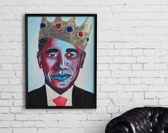 Barack Obama the 44th President Print