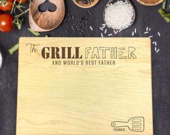 Personalized Cutting Board, Engraved Cutting Board, Custom Cutting Board, Fathers Day Gift, Gift for Him, Gift for Dad, Grill Father, B-0115