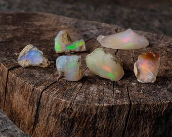 5g Small AA Grade Raw OPAL - Natural Opal Stones, Opal Crystal, Welo Opal Rough, Fire Opal Stones for Rough Opal Jewelry Making E0088