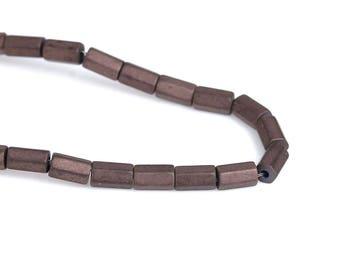 80 beads Hematite 3mm coffee color column