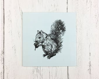 Squirrel Greetings Card for Birthday / Invitation Card / Thank You Card / Card For Friends / Animal Lover Card / Nature Lover Card