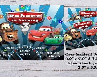 Cars 3 Invitation Cars 3 Birthday invitation Cars 3 Invitations Cars 3 Invite McQueen Invitations Cars 3 Birthday Party Cars 3 Party Supply