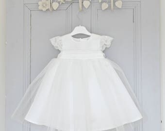 Christening Dress 'Holly' • Adore Baby • Baptism Dress • Baby Girl Baptism Dress • Baby Blessing Dress • Christening Gown • Baptism Gown •
