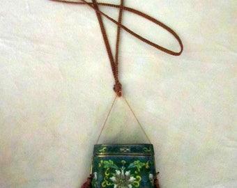 Antique Japanese Cloisonne Inro Necklace