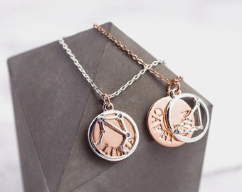 Libra Gifts | Constellation | Libra | Libra Zodiac | Zodiac Necklace | Astrological Jewelry | Galaxy Necklace | Horoscope Necklace |