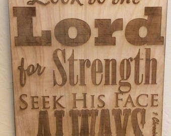 Insperational Wooden Wall Decor 1 Chronicles 16:11