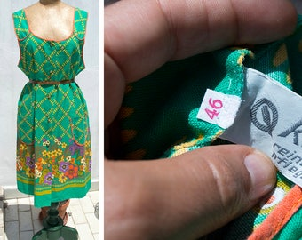 Chemisier years 70-dress 70 years-vintage clothing-Women's vintage dress 70