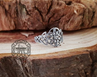 Celtic Knot Ring Sterling Silver Celtic Triskele Knot Ring Celtic Jewelry Celtic Shield