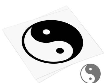 Yin Yang symbol decal,  Yin Yang decal,  vinyl car decal, removable laptop keyboard sticker, car decal, Ipad, pc, ps4, xbox, nintendo
