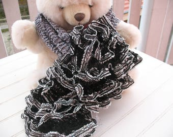 SCARF FROUFROU black gray