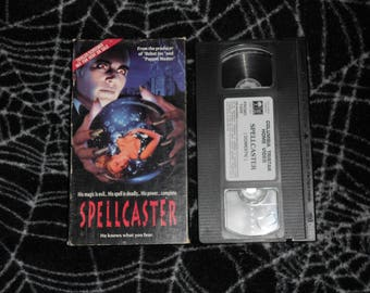 Spellcaster (1991, VHS) *Rare SCREENER COPY* Not Available for Rent/Sale - Horror Cult Classic Magic Spells Halloween Spell Caster