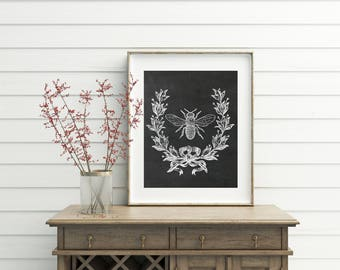 French Bee Print