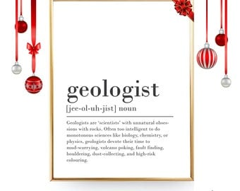 Geology Print Funny Definition Print Digital Download Geologist Gift for Geologist Present Funny Geologist Gift Idea Geology Student