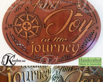 Wooden Wall Art, Find Joy in the Journey, Inspirational Quote, inspirational gift, home sign decor