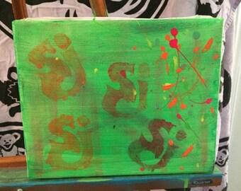 sci painting graffiti stencle