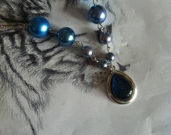 """Shades of blue """"Ocean treasure"""" necklace"""