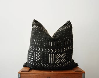 THE BELFAST African Mud Cloth Triangle Pillow Cover