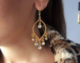 Crystal Earrings, Drop Swarovski Earrings, Crystal Studs, Swarovski Dangles, Drop Earrings, Swarovski Jewelry, Gift for Her, Made in Greece.