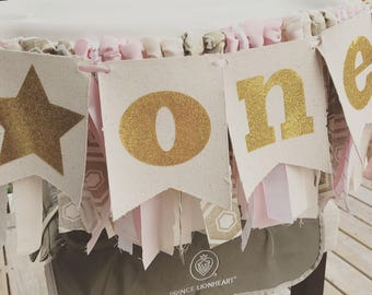 Twinkle Twinkle little star banner, star banner, star decor, twinkle twinkle little star party, pink and gold banner, little star