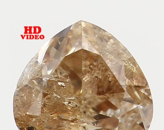0.23 Ct Natural Loose Diamond Cut Heart Shape Brown Color 3.70X3.30X2.40 MM I1 Clarity N5367