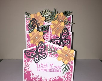 Handmade Cascading Birthday card